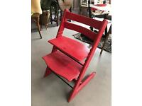 Red Stoke Tripp Trapp chair