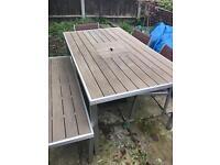 Outdoor garden table and benches Elan Kinzie