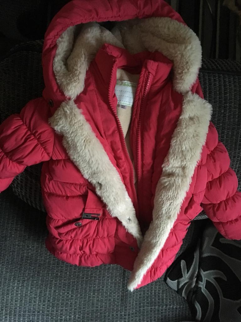 Girls raspberry coat