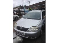 2003 TOYOTA COROLLA ESTATE 2.0 TD 1CD-FTV SILVER MANUAL BREAKING FOR PARTS