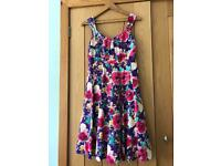 Purple floral dress size 12