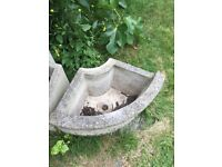 4 sandford stone planters, good condition, very heavy. Make an offer