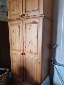 Wood Wardrobe & Chest of Drawers