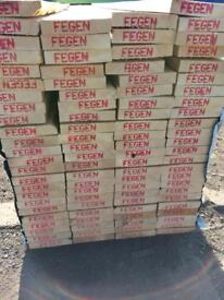 New timber joists 10x2x16 ft long