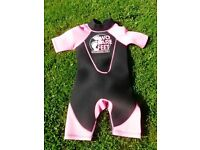 Girls Two Bare Feet Wetsuit