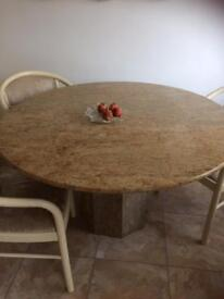 INDIAN GOLD GRANITE DINING TABLE