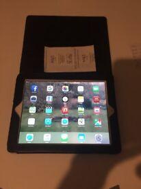 Ipad with leather case, mint condition and very good battery life