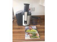 Philips HR1861 Whole Fruit Juicer & Jason Vale ' Juice Master' book