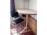 Ikea bar table 4 chairs
