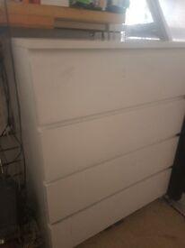 Drawer units / storage cabinets white