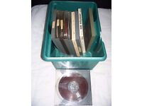 10 7 inch reel to reel tapes and 6 empty tape cases