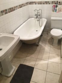Double furnished room (if required) available to rent asap