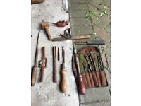Old vintage tools