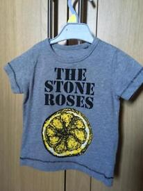 Next Stone Roses t shirt size 3-6 months