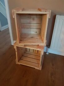Made to order Handmade, solid wooden crates.