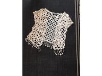 Size medium (12) crochet top