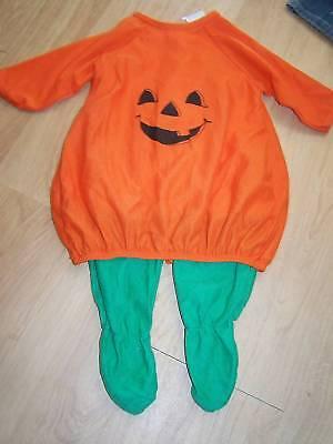 Infant Size 6-9 Months Gerber Pumpkin Jack O Lantern Halloween Costume Jumpsuit (Infant Costumes 6 9 Months)