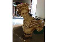 Greek Apollo stone bust