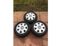 VW Polo 2004 9n Tyres & Alloys 185/60/14