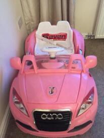 Pink electric car