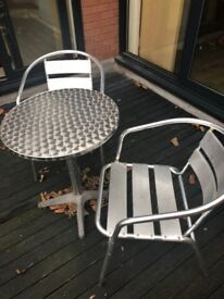 Small outside table and two chairs