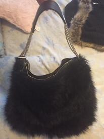River Island faux fur bag