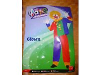 2 piece clown outfit aged 10-12 and wig