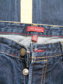 Ted Baker 106 indigo blue jeans W34XL32