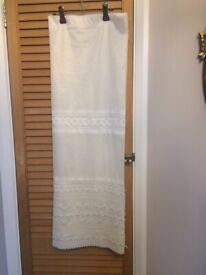 White net curtains - 2.20m wide