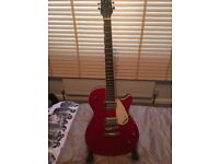 "Gretsch Electric Guitar - ""Electromatic"" in Sunburst Red with CUBE practise amp as new"