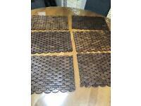 Beautiful wooden place mats