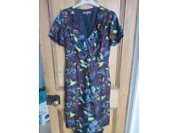 Real Silk Vintage style Dress Size 10