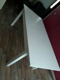 Ikea bjursta white dining extending table