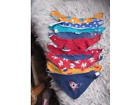 Bundle of 11 Colourful Dribble Bibs