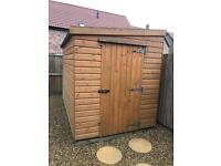 10x6 pent roof shed