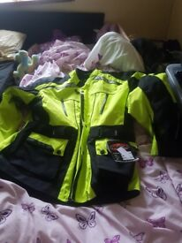 5xl motorcycle jacket and trousers