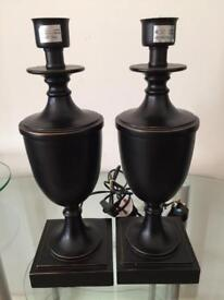 2 lamp bases urn shaped needing top
