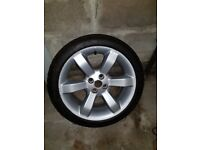 MG TF alloy wheel and tyre 195 45 16