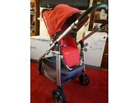 Uppababy Cruz stroller and Carrycot