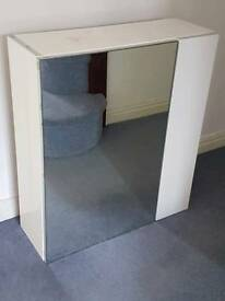 New Cooke Lewis Paolo White Gloss Large Bathroom Bath Mirror Cabinet