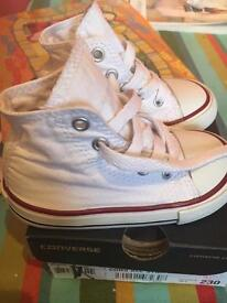 Unisex Converse All Star Hi Toddler Size6