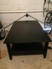 Large Black Coffee Table