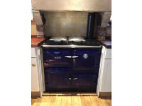 Gorgeous gas Rayburn in good used condition, in oxford blue