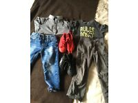 Boys clothes size 1 and a half to 2 years plus shoes
