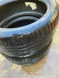 2x 275 40 R21 Pirelli P Zero Run Flat