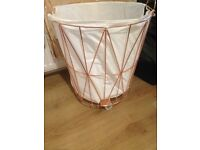 Copper laundry basket