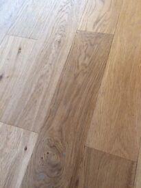 Beautiful engineered oak flooring 125mm. 19m2. Still in original boxes.