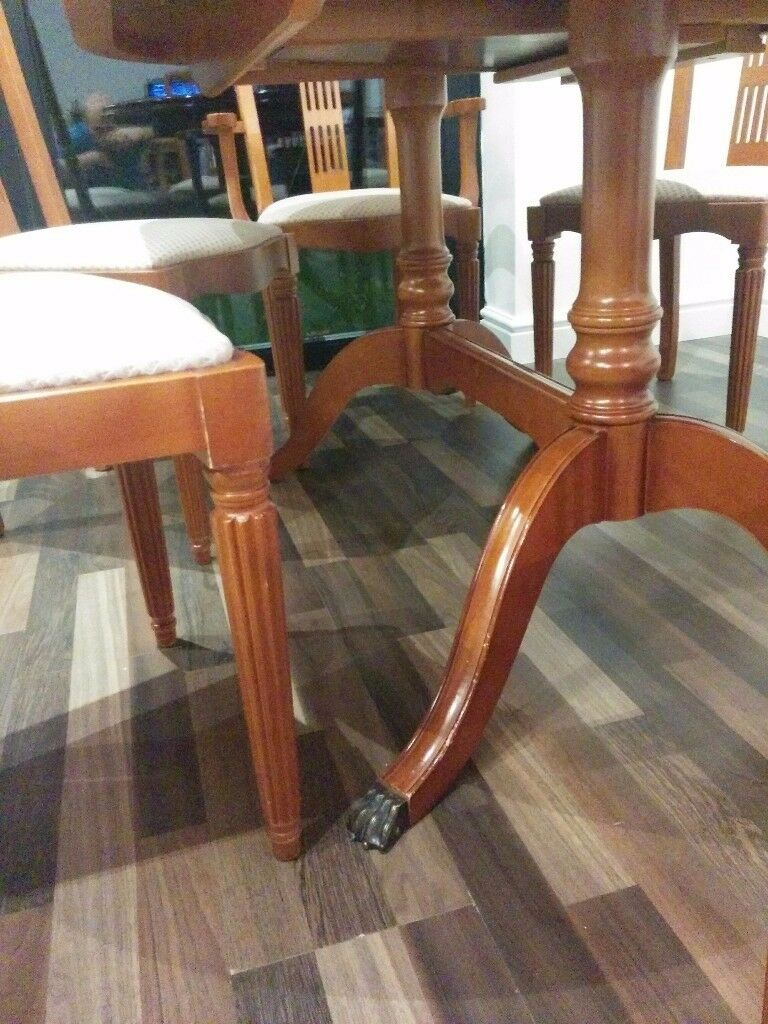 Sale Manchester 11500 Extendable Dining Table 6 Chairs Image 1 Of