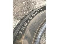 Nearly new tyre 155 65R14 75T Toyota Aygo Citroen C1 Peugeot 107