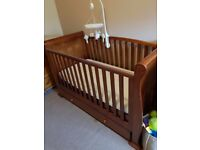 Cot bed for sale. Including mattress